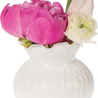 Milk Glass Vase (short ruffled design)