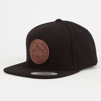 Element Highland Cap Mens Strapback Black One Size For Men 26823210001