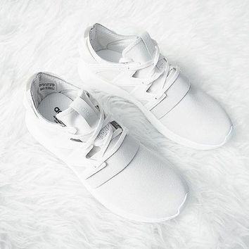 simpleclothesv £ºADIDAS Fashion Sneakers Sport Shoes Tubular Viral Sneakers White