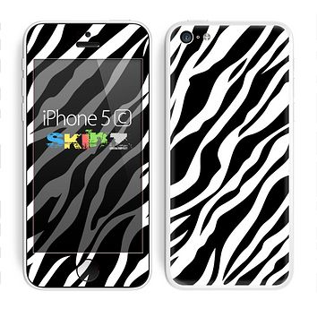 The Simple Vector Zebra Animal Print Skin for the Apple iPhone 5c