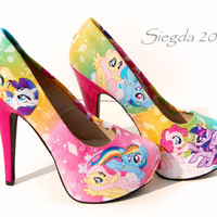 My Little Pony3- MLP-Party Pumps- cosplay- Rainbow Dash - Twilight Sparkle- Apple Jack -Rarity- Pinkie Pie- Fluttershy