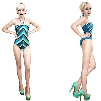 1990s Aquamarine Teal Blue Green chevron striped one piece swimsuit removable strap, retro mermaid bathing suit, vintage swimwear pool party