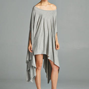 Cape Swing Top in Heather Gray