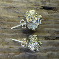 Pyrite Fool's Gold ROX Earrings by Windsday on Etsy