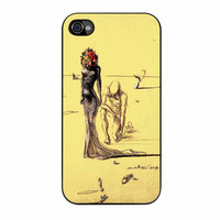 Salvador Dali Woman With Flower Head iPhone 4 Case