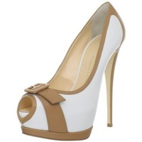 Giuseppe Zanotti Women's E26072 Platform Open-Toe Pump - designer shoes, handbags, jewelry, watches, and fashion accessories | endless.com