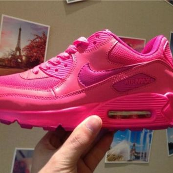 LMFYN6 Women AIR MAX 90 CASUAL WOMEN'S PINK RUNNING SHOES