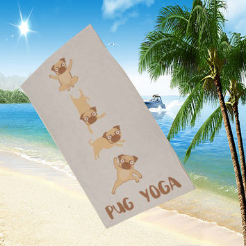 Funny Dog Beach Towel [8267847367]