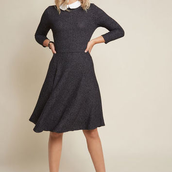 Perfectly Proper Knit Dress