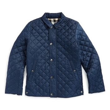 Boy's Burberry 'Luke' Quilted Jacket,