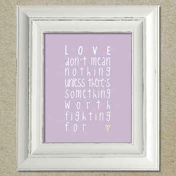 kings of leon art print / beautiful war lyrics