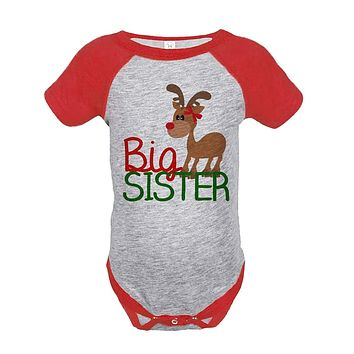 Custom Party Shop Baby's Big Sister Christmas Onepiece Red