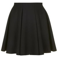 Box Pleat Flippy Skirt - Black