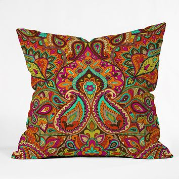 Aimee St Hill Paisley Orange Throw Pillow
