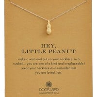 Women's Dogeared 'Reminder - Hey, Little Peanut' Pendant Necklace