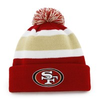 NFL San Francisco 49Ers Men's Breakaway Knit Cap, One Size, Red