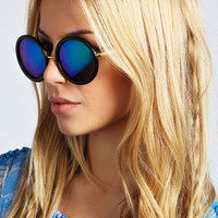 Gracie Round Mirrored Frame Sunglasses