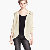 Purl-knit Cardigan - from H&M