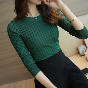 Women Sweater High Elastic Solid Turtleneck 2016 Fall Winter Fashion Sweater Women Slim Sexy Hight Bottoming Knitted Pullovers