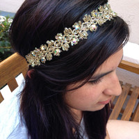 Aurelia Headband - Gold Jeweled