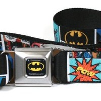 Batman Comic Strip Logo Seatbelt Belt
