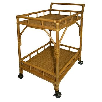 Threshold™ Rattan Bar Cart with Casters