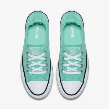 ONETOW Converse Chuck Taylor All Star Shoes Shoreline Slip for Women in Green Glow 556690F