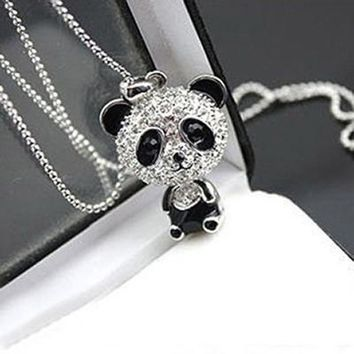 Fashion Women Jewelry Necklace Full of Cute Little Pandas Lovely Retro Necklace