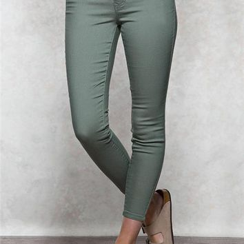 Blue Spice Colored Ankle Jegging Jeans