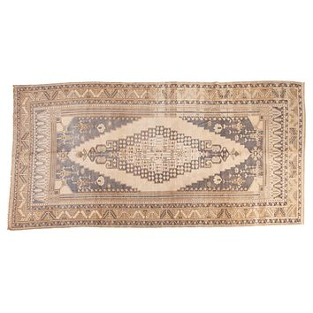 6x11.5 Vintage Distressed Oushak Carpet