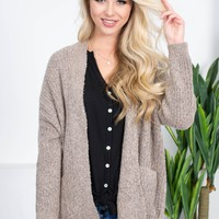 Mary Ann Pocket Cardigan | Mocha