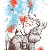 A Happy Place Art Print by Norman Duenas   Society6