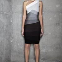 Bcbg.com: Herve Leger Alexis One-Shoulder Ombre Bandage Dress, Herve Leger (HAS6C664-08V)