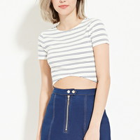 Curved-Hem Crop Top