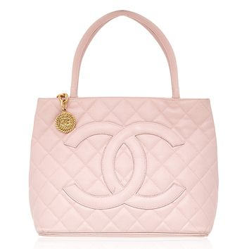 Chanel Quilted Leather Pink Tote Handbag from Rewind Vintage Affairs