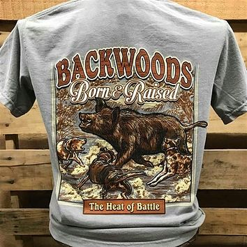 Backwoods Born & Raised Hog Heat of the Battle Unisex T Shirt