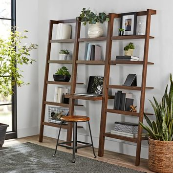 Mainstays Sumpter Park Ladder Bookcase Desk - Walmart.com