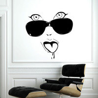 Makeup Wall Decal Vinyl Sticker Decals Home Decor Mural Make Up Girl Eyes Woman Fashion Cosmetic Hairdressing Hair Beauty Salon Decor SV6040