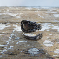Vintage Sterling Spoon Ring Sterling Silver Ring Adjustable Ring
