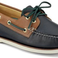 Sperry Top-Sider Gold Cup Authentic Original 2-Eye Boat Shoe Navy/TanLeather, Size 10M  Men's Shoes