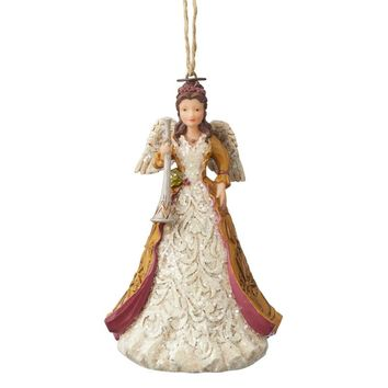 Jim Shore HWC Victorian Angel with Horn Orn - 6004186