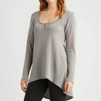 Organic Cotton Long Sleeve Tunic - Waffle Texture