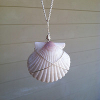 Handmade Wire Wrapped Shell Beach Necklace