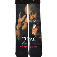 Tupac All Eyes On Me 2pac All Over Print Custom Printed High Long Cotton Socks