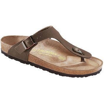 Birkenstock Classic Gizeh Regular Fit Birkibuc Mocca - Beauty Ticks