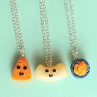 Handmade Macaroni and Cheese Three-Way Best Friend Necklaces or Bracelets