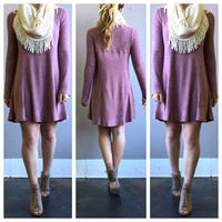 A Sweater Dress in Mauve