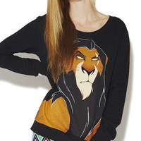 Lion King Villain Sweatshirt | Wet Seal