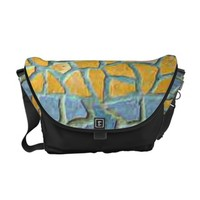 Watercolor Painting Stone Mosaic + your ideas Courier Bag
