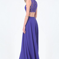 BACK CUTOUT GOWN